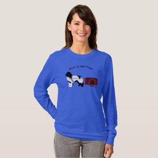 T-shirt Dessus de douille de chien d'ébauche long