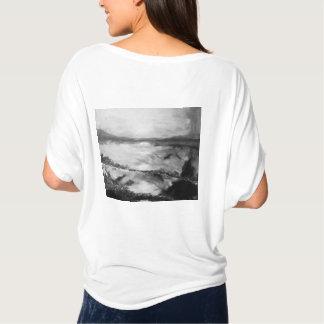 T-shirt Dessus de Flowy de coucher du soleil de B&W