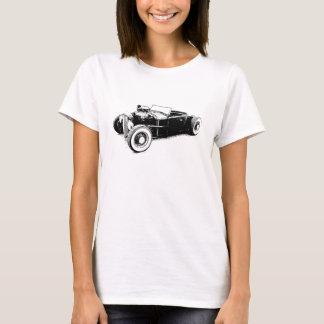 T-shirt dessus de hot rod de dames