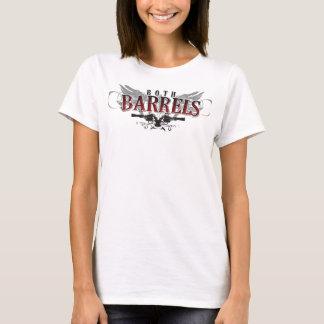 T-shirt Dessus de les deux dames de barils