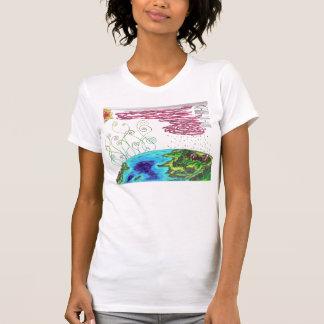 T-shirt Dessus de Sleved de casquette de cycle de l'eau