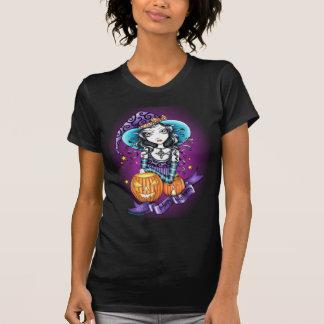 """T-shirt Dessus de sorcière de citrouille de """"Lisa"""""""