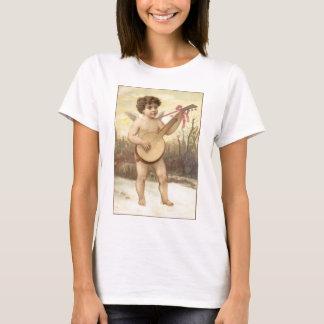 T-shirt Dessus de spaghetti de dames d'ange de banjo