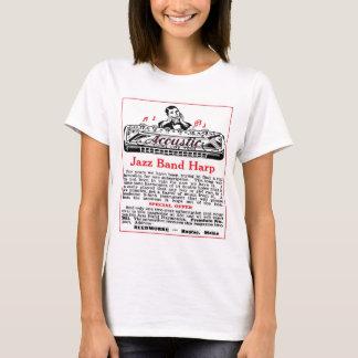 T-shirt Dessus de spaghetti de dames d'annonce d'harmonica