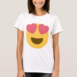 T-shirt Dessus d'Emoji de visage de coeur