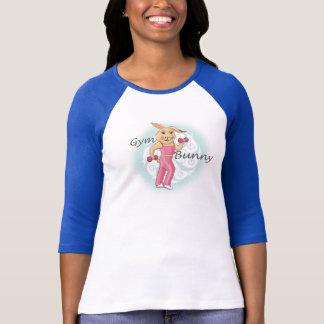 T-shirt Dessus d'Excercis de lapin de gymnase