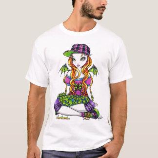 T-shirt Dessus féerique d'art d'arc-en-ciel de Punky de