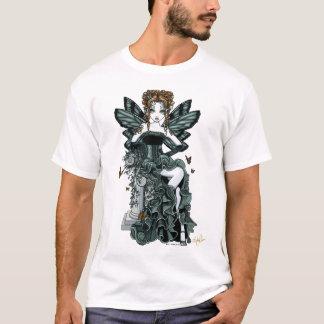 T-shirt Dessus gothique de fée de papillon de couture de