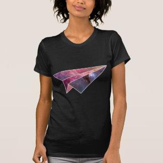 T-shirt Dessus plat de papier galactique de dames
