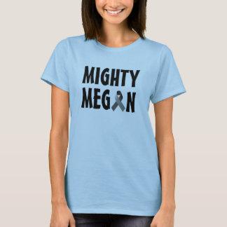 T-shirt Dessus puissant de bleu de Megan