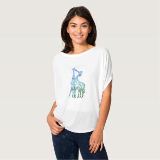 T-shirt Dessus romantique de Women'sCircle de girafes