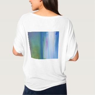 T-shirt Dessus silencieux de cercle de vert bleu de mers