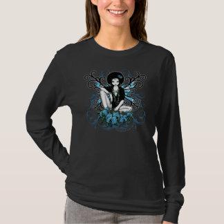 T-shirt Dessus turquoise de fée de la Chine rétro Lilly