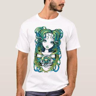 """T-shirt Dessus vert d'ange de l'eau de """"Kallan"""" Lotus"""