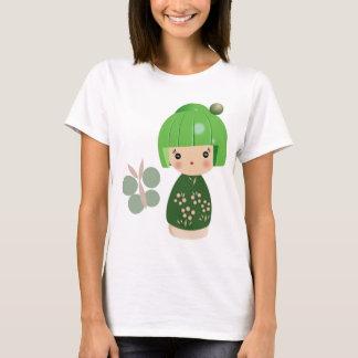 T-shirt Dessus vert de courroies de spaghetti de triplet