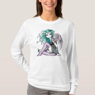 T-shirt Dessus violet d'ange de tatouage de Malory