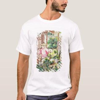 T-shirt Détail d'un vase avec les hommes arrosant des