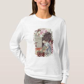 T-shirt Détail d'un vase dépeignant le thé de séchage