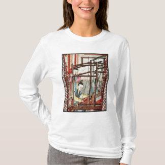 T-shirt Détail d'un vase dépeignant le tissage de soie