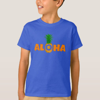 T-shirt d'été d'ananas Aloha - pour des garçons