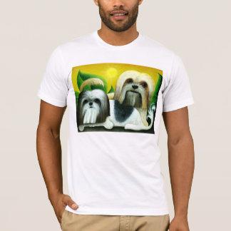 T-shirt Deux chiens de Shih Tzu