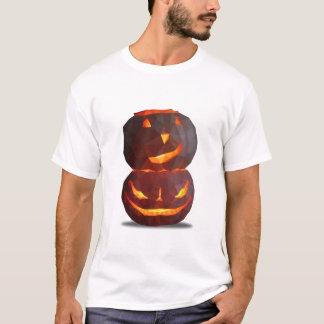 T-shirt deux citrouilles en low poly