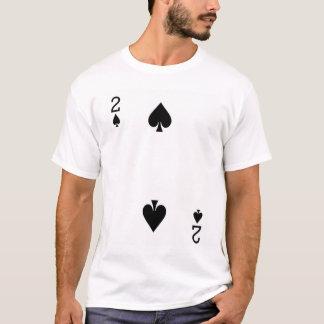 T-shirt Deux de la carte de jeu de pelles