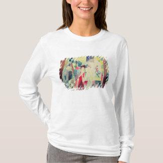 T-shirt Deux femmes et un homme avec des perroquets, 20ème