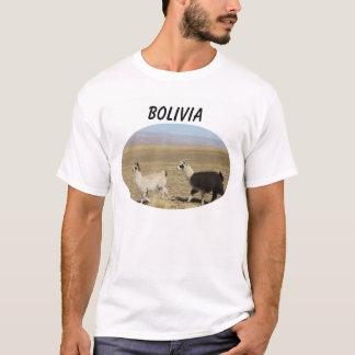 T-shirt Deux lamas - lama de 2 Bolivie