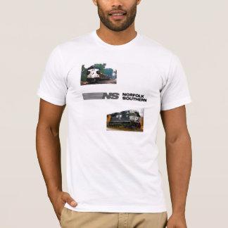 T-shirt Deux locomotives du sud de la Norfolk