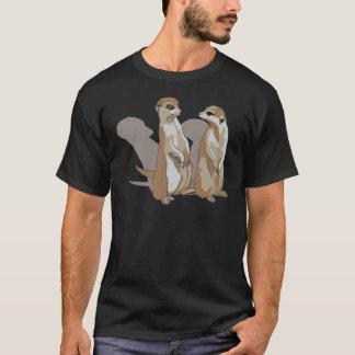 T-shirt deux mâles de terre avec des ombres