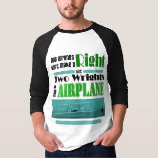 T-shirt Deux maux ne font pas une droite