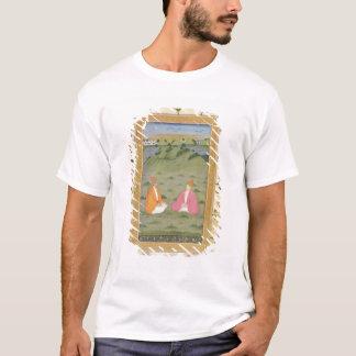 T-shirt Deux nobles assis dans un paysage, du petit C