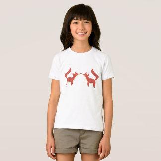 T-shirt Deux petits renards oranges