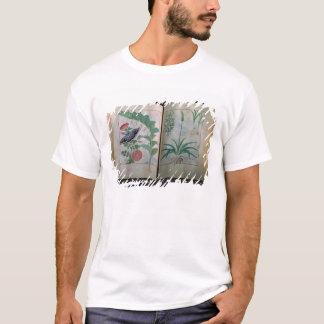 T-shirt Deux representations de pages roses et ail