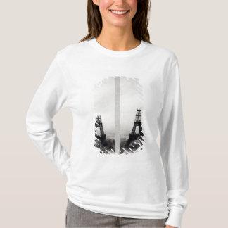 T-shirt Deux vues de la construction d'Eiffel