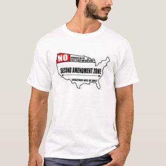 T-shirt Deuxième zone d'amendement (lumière)