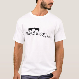 T-shirt d'hamburger de baie avec votre ordre sur