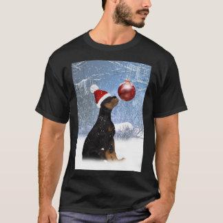 T-shirt d'hiver de chiot de rottweiler pour les
