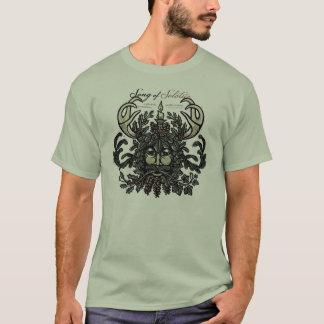 T-shirt d'homme vert de solstice d'hiver (blanc)