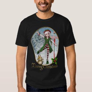 T-shirt d'hommes de Sadie Elf de Joyeux Noël