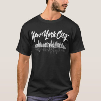T-shirt d'horizon de New York City