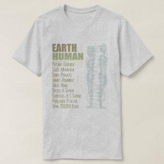 T-shirt d'humain de la terre