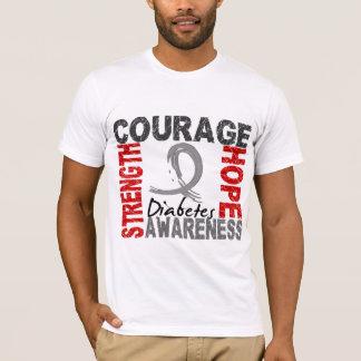 T-shirt Diabète d'espoir de courage de force