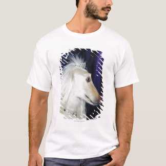 T-shirt Diadème de port de lévrier afghan