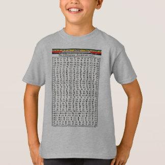 T-shirt Diagramme amharique d'alphabet de fédération