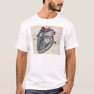 T-shirt Diagramme anatomique de coeur d'art vintage - la