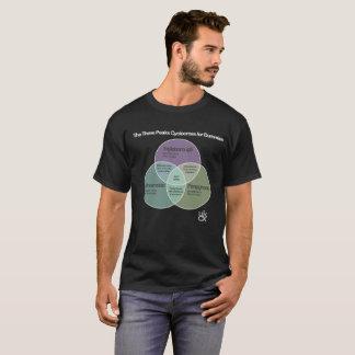 T-shirt Diagramme de Cyclocross Venn de 3 crêtes
