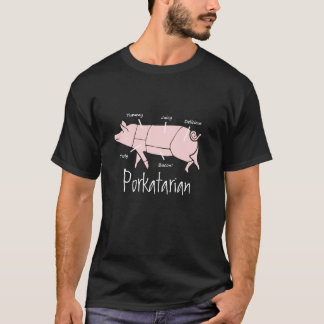 T-shirt Diagramme de diagramme de Porkatarian de boucher
