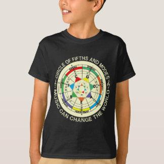 T-shirt Diagramme de modes de musique et cercle des